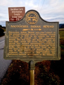 Nacoochee Mound Sign