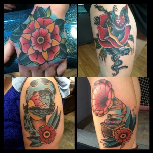Sample of some of Alan's tattoos.
